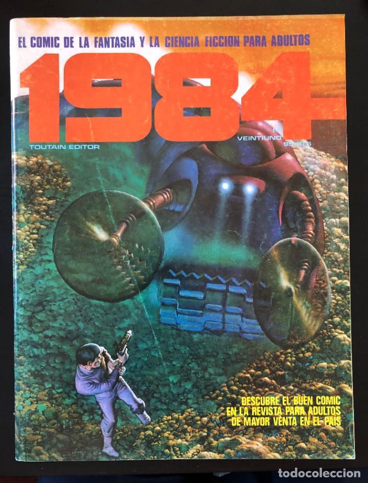 1984 Nº 21 VEINTIUNO TOUTAIN PORTADA CON LIGERO USO, INTERIOR BIEN. (Tebeos y Comics - Toutain - 1984)