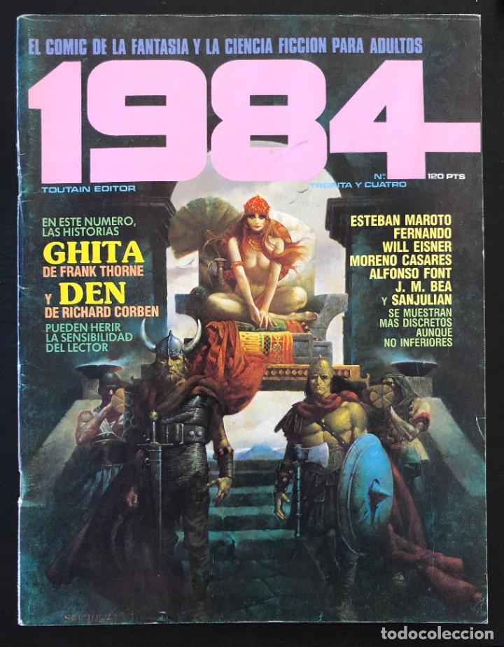 1984 Nº 34 TREINTA Y CUATRO TOUTAIN EDITOR PORTADA CON LIGERO USO, INTERIOR BIEN (Tebeos y Comics - Toutain - 1984)