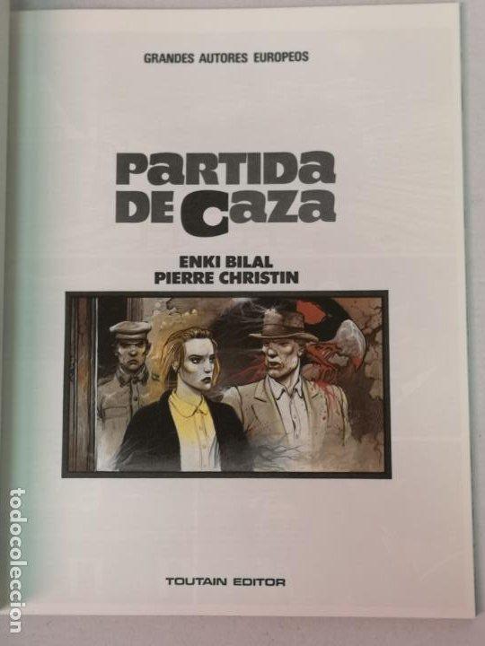 Cómics: PARTIDA DE CAZA ENKI BILAL TOUTAIN EDITOR TOUTAIN EDITOR - Foto 3 - 205273803
