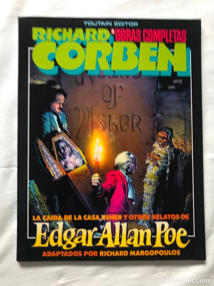 ALBUMES TOUTAIN. OBRAS COMPLETAS Nº4, EDGAR ALLAN POE, RICHARD CORBEN, MUY BUEN ESTADO (Tebeos y Comics - Toutain - Obras Completas)