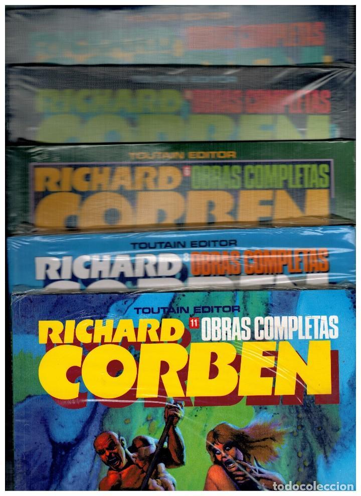RICHARD CORBEN -OBRAS COMPLETAS- NºS.-3,4,6,8 Y 11. LOTE DE 5 EJEMPLARES SIN ABRIR.OFERTA. (Tebeos y Comics - Toutain - Obras Completas)