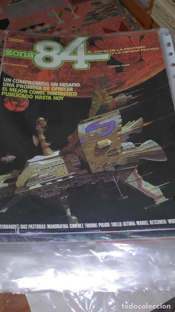 * ZONA 84 * TOUTAIN EDITOR 1984 * LOTE DE 63 Nº + ALMANAQUES * IMPECABLES * (Tebeos y Comics - Toutain - Zona 84)