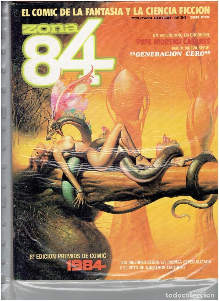 Cómics: * ZONA 84 * TOUTAIN EDITOR 1984 * LOTE DE 63 Nº + ALMANAQUES * IMPECABLES * - Foto 19 - 206537642