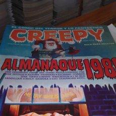 Cómics: * CREEPY * TOUTAIN EDITOR 1980 / 1985 * ALMANAQUES LOTE DE 6 Nº IMPECABLES *. Lote 207287041