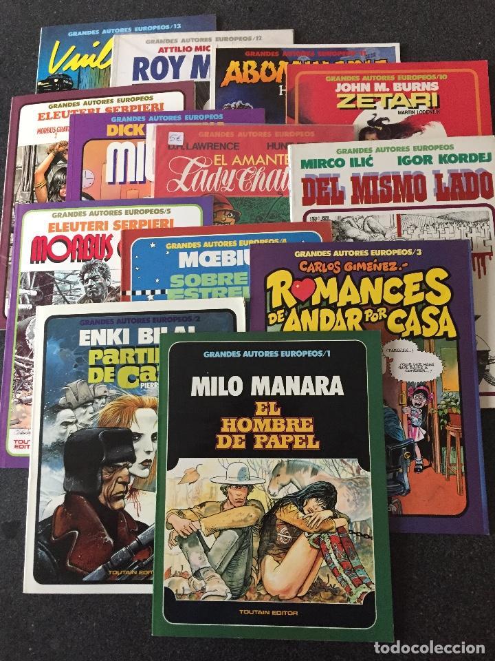 GRANDES AUTORES EUROPEOS COMPLETA 13 TOMOS - 1ª EDICIÓN - TOUTAIN - 1985 - ¡NUEVA! (Tebeos y Comics - Toutain - Obras Completas)