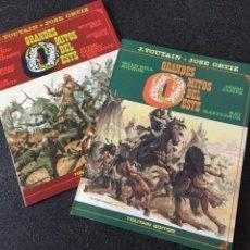 Comics : GRANDES MITOS DEL OESTE COMPLETA 2 TOMOS - JOSE ORTIZ - 1ª EDICIÓN - TOUTAIN - 1987 - ¡NUEVA!. Lote 207881360