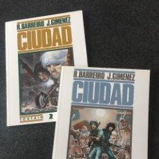 Comics : CIUDAD COMPLETA 2 TOMOS - R. BARREIRO / JUAN GIMÉNEZ - 1ª EDICIÓN - TOUTAIN - 1991 - ¡NUEVA!. Lote 207948162