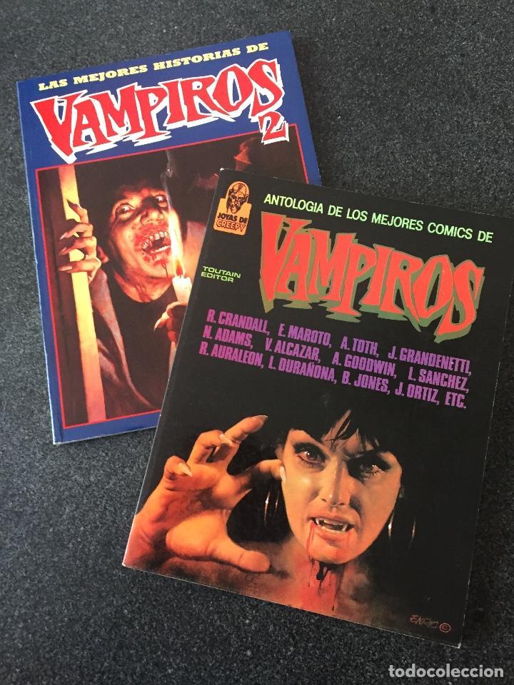 ANTOLOGIA DE LOS MEJORES COMICS DE VAMPIROS COMPLETA 2 TOMOS - 1ª EDICIÓN - TOUTAIN - 1988 - ¡NUEVA! (Tebeos y Comics - Toutain - Obras Completas)