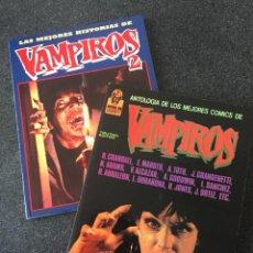 Cómics: ANTOLOGIA DE LOS MEJORES COMICS DE VAMPIROS COMPLETA 2 TOMOS - 1ª EDICIÓN - TOUTAIN - 1988 - ¡NUEVA!. Lote 207964216