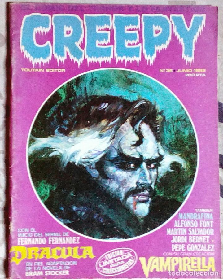 CREEPY N°36 - TOUTAIN - COMIC TERROR. (Tebeos y Comics - Toutain - Creepy)