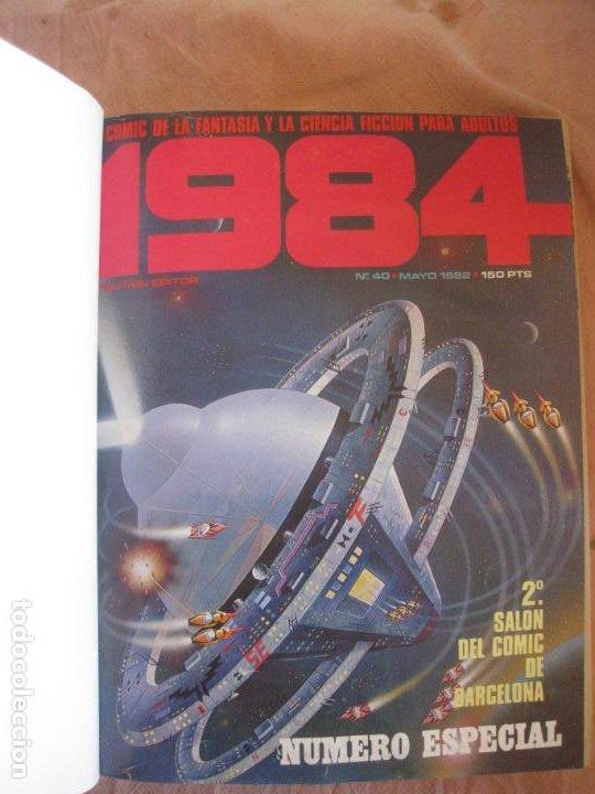 1984 NUMEROS 40,41,42,43,44,46,49 Y ALMANAQUE 1981. ENCUADERNADOS. (Tebeos y Comics - Toutain - 1984)