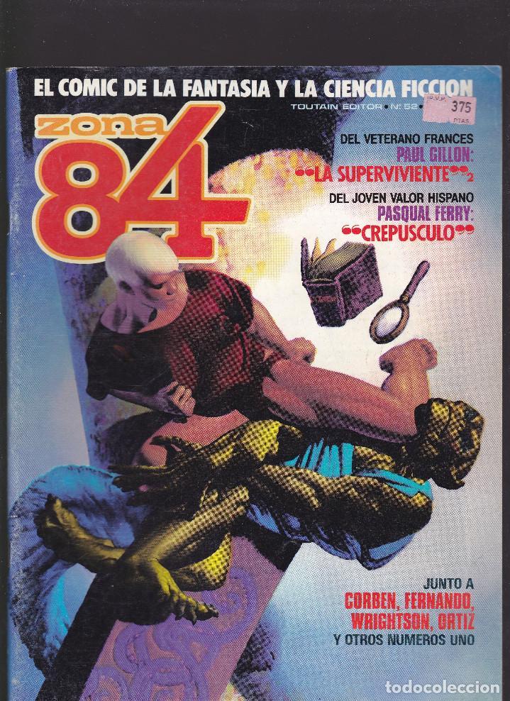 ZONA 84 ZONA84 - Nº 52 DE 96 - IX-1988 - TOUTAIN - (Tebeos y Comics - Toutain - Zona 84)