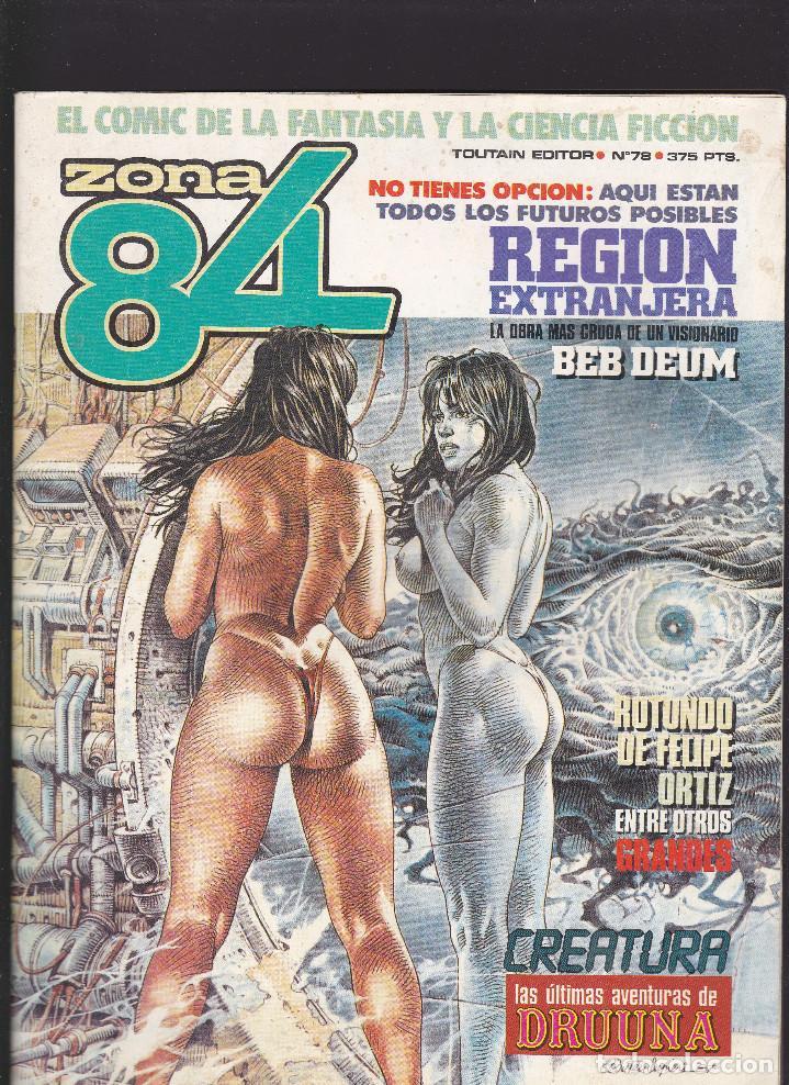 ZONA 84 ZONA84 - Nº 78 DE 96 - XI-1990 - TOUTAIN - (Tebeos y Comics - Toutain - Zona 84)