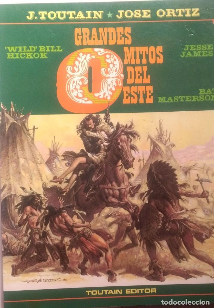Cómics: GRANDES MITOS DEL OESTE COMPLETA 2 TOMOS - JOSE ORTIZ - 1ª EDICIÓN - TOUTAIN - 1987 - ¡NUEVA! - Foto 3 - 209260182
