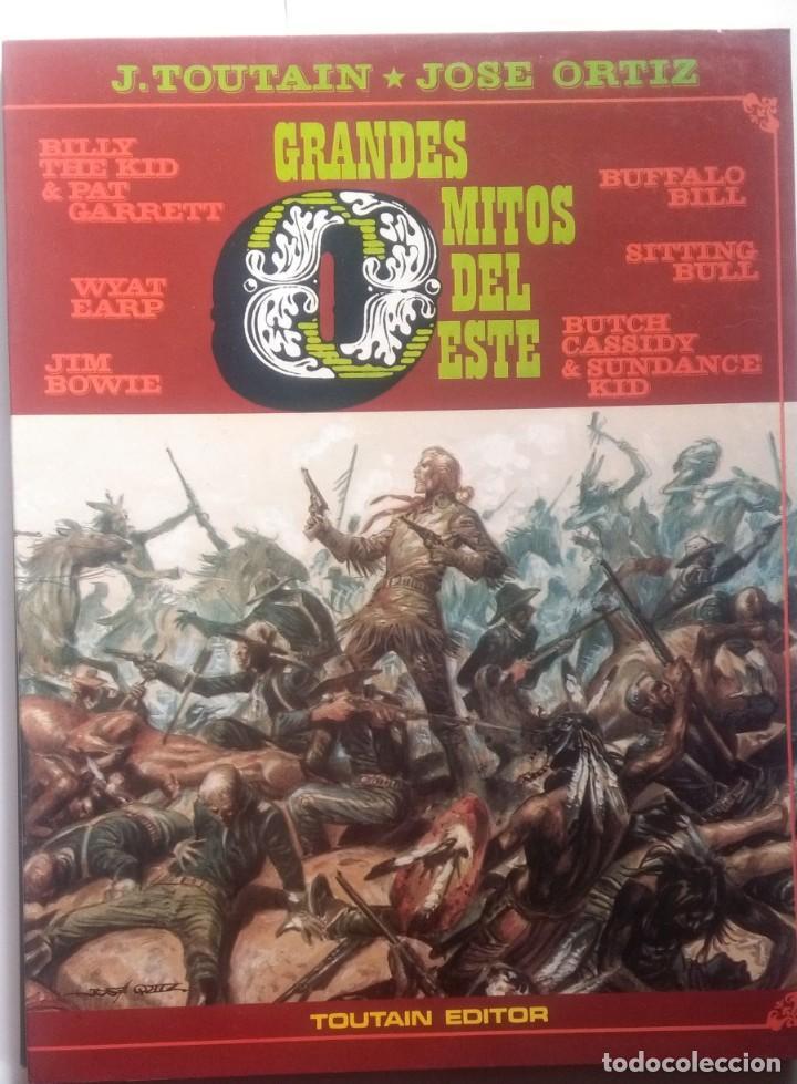 GRANDES MITOS DEL OESTE COMPLETA 2 TOMOS - JOSE ORTIZ - 1ª EDICIÓN - TOUTAIN - 1987 - ¡NUEVA! (Tebeos y Comics - Toutain - Álbumes)