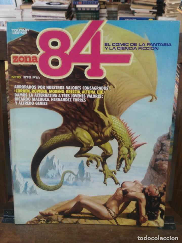 ZONA 84 - Nº 10 - EL COMIC DE LA FANTASÍA Y LA CIENCIA FICCIÓN - TOUTAIN (Tebeos y Comics - Toutain - Zona 84)