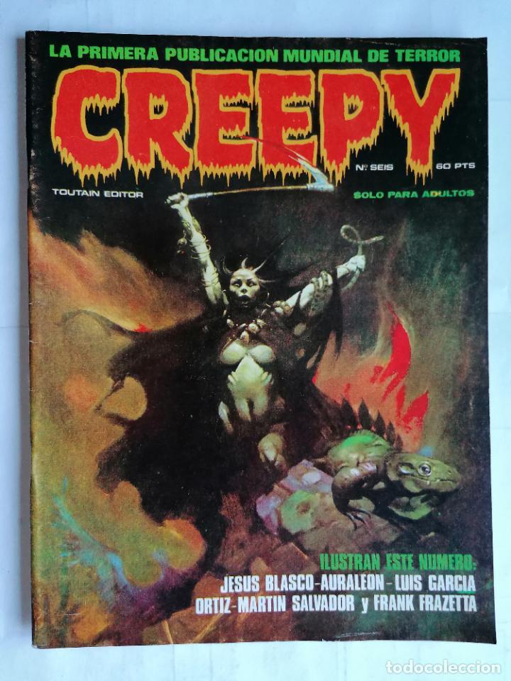 CREEPY EL COMIC DEL TERROR Y LO FANTASTICO, Nº SEIS, AÑO 1979 (Tebeos y Comics - Toutain - Creepy)
