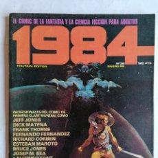 Comics : 1984, Nº 36, ENERO 82, EL COMIC DE LA CIENCIA FICCION PARA ADULTOS. Lote 210047410