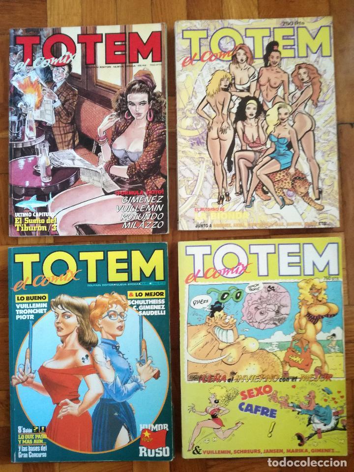 LOTE 4 TOMOS DE TOTEM EL COMIX RETAPADOS Nº DEL 43 AL 51 Y DEL 64 AL 66 (Tebeos y Comics - Toutain - Otros)