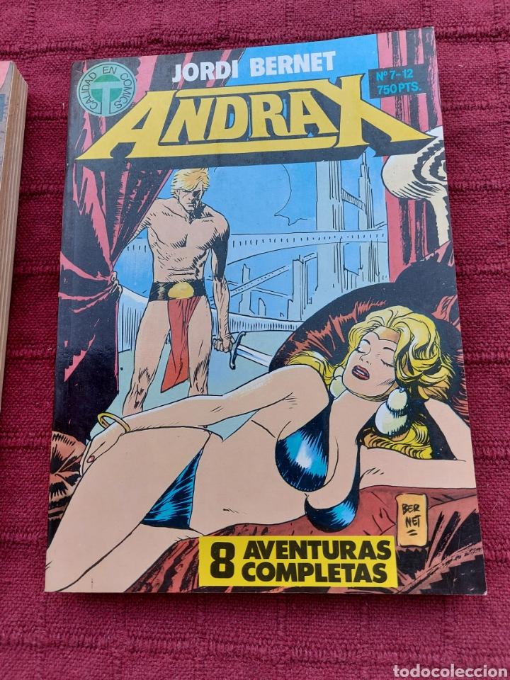 Cómics: ANDRAX COLECCIÓN COMPLETA DE COMIC EN DOS RETAPADOS 1AL 6 - 7 AL12-JORDI BERNET - Foto 3 - 210482791