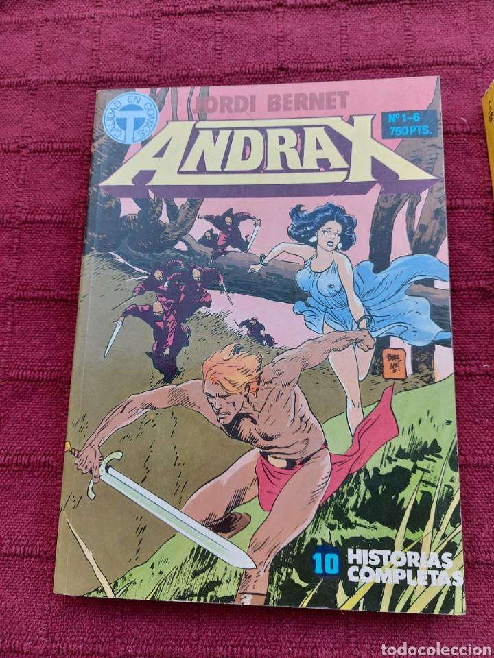 Cómics: ANDRAX COLECCIÓN COMPLETA DE COMIC EN DOS RETAPADOS 1AL 6 - 7 AL12-JORDI BERNET - Foto 4 - 210482791