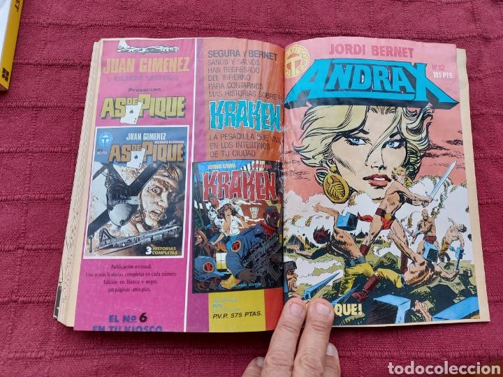 Cómics: ANDRAX COLECCIÓN COMPLETA DE COMIC EN DOS RETAPADOS 1AL 6 - 7 AL12-JORDI BERNET - Foto 12 - 210482791