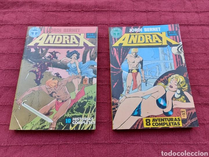 ANDRAX COLECCIÓN COMPLETA DE COMIC EN DOS RETAPADOS 1AL 6 - 7 AL12-JORDI BERNET (Tebeos y Comics - Toutain - Obras Completas)