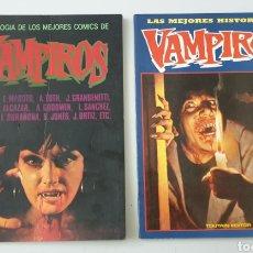 Cómics: LOTE ANTOLOGIA DE LOS MEJORES COMICS DE VAMPIROS N°1 Y 2 - COLECCION COMPLETA!!. Lote 210619457