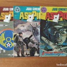Cómics: LOTE DE 3 COMICS AS DE PIQUE. JUAN GIMÉNEZ. RICARDO BARREIRO. TOUTAIN EDITOR. Nº 1, 3 Y 10.. Lote 211463042