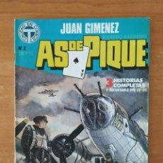 Cómics: AS DE PIQUE. JUAN GIMÉNEZ. RICARDO BARREIRO. TOUTAIN EDITOR. Nº 3.. Lote 211463109