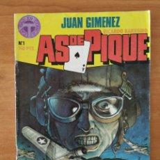 Cómics: AS DE PIQUE. JUAN GIMÉNEZ. RICARDO BARREIRO. TOUTAIN EDITOR. Nº 1.. Lote 211463141