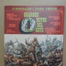 Cómics: GRANDES MITOS DEL OESTE - VOLUMEN 2 - EDITORIAL TOUTAIN 1988 JOSE ORTIZ. Lote 211482420