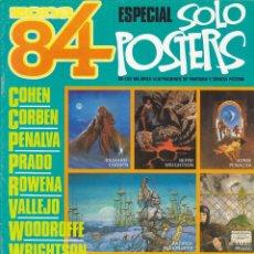 Cómics: ZONA 84, ESPECIAL SOLO POSTERS COLECCIÓN COMPLETA DEL 1 AL 4. Lote 211672181