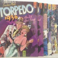Cómics: TORPEDO 1936 - COMPLETA EN 8 TOMOS - DEL Nº 0 AL Nº 7 - *** TOUTAIN EDITOR *** PRECINTADO. Lote 212059567