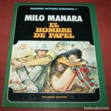 Cómics: EL HOMBRE DE PAPEL - MILO MANARA - TOUTAIN - 1985. Lote 212220765