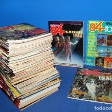 Comics : LOTE 67 COMICS ZONA 84 INCLUYENDO ALMANAQUES Y SOLO POSTERS TOUTAIN EDITOR -1984. Lote 212939927