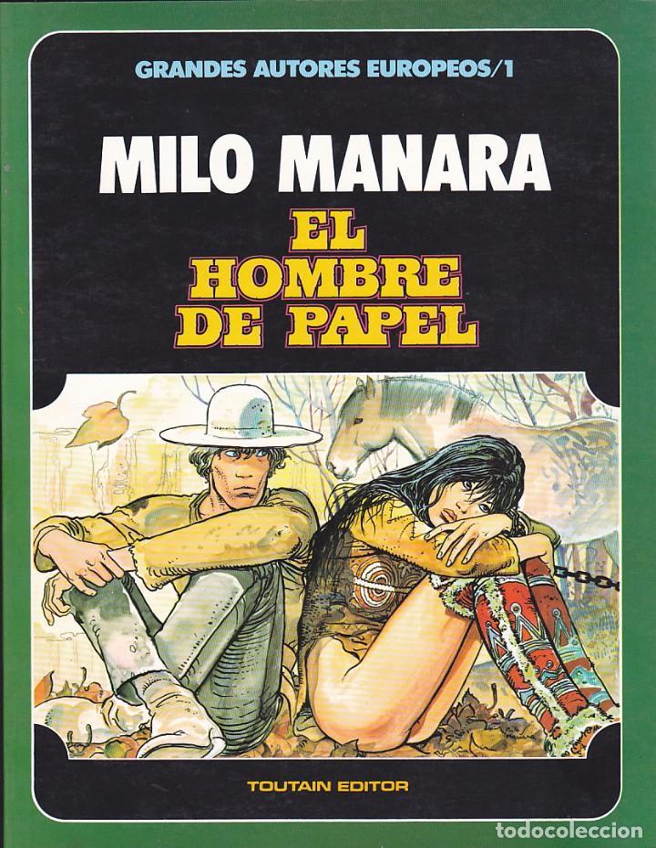 COMIC GRANDES AUTORES EUROPEOS MILO MANARA EL HOMBRE DE PAPEL (Tebeos y Comics - Toutain - Álbumes)
