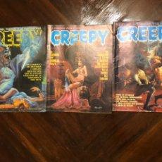 Comics : LOTE 3 EJEMPLARES CREEPY TOUTAIN. Lote 213195757