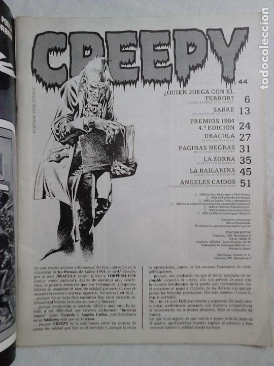 Cómics: Revista Creepy N.º 44 (febrero 1983) - El cómic del terror y lo fantástico - Foto 2 - 213592353