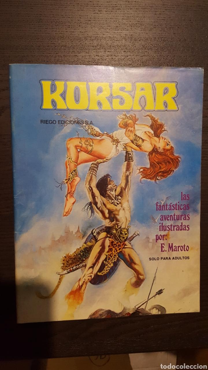 Cómics: Lote Esteban Maroto - Korsar, Mujeres fantasticas, En el nombre del diablo - Toutain Editor - Riego - Foto 2 - 213910026