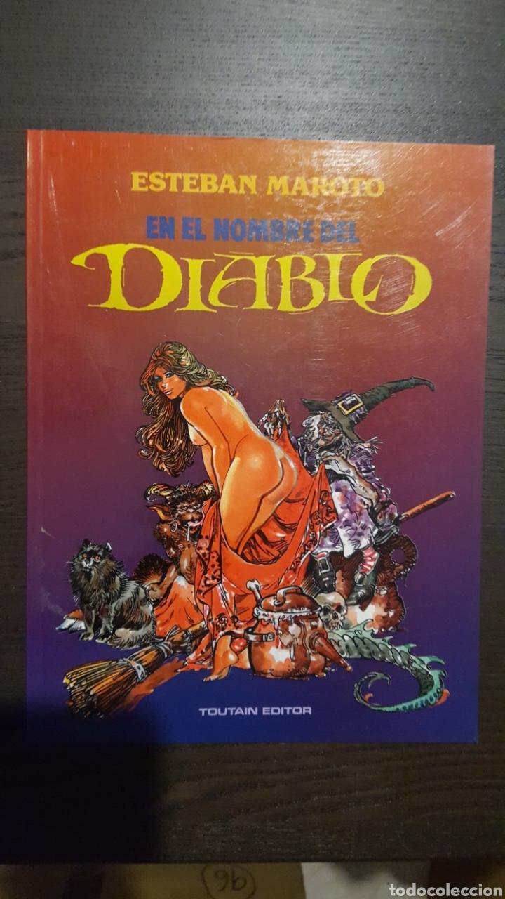 Cómics: Lote Esteban Maroto - Korsar, Mujeres fantasticas, En el nombre del diablo - Toutain Editor - Riego - Foto 8 - 213910026