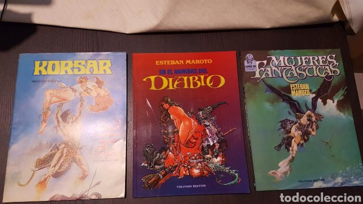 LOTE ESTEBAN MAROTO - KORSAR, MUJERES FANTASTICAS, EN EL NOMBRE DEL DIABLO - TOUTAIN EDITOR - RIEGO (Tebeos y Comics - Toutain - Álbumes)