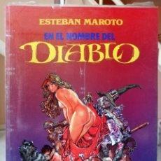 Comics: EN EL NOMBRE DEL DIABLO (ESTEBAN MAROTO) TOUTAIN, 1991 (NUEVO PRECINTADO). Lote 214040300
