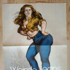 Cómics: POSTER CARTEL WEIRDO JEANS HISTORIA DE LOS COMICS TOUTAIN ROBERT CRUMB 1981. Lote 215803583