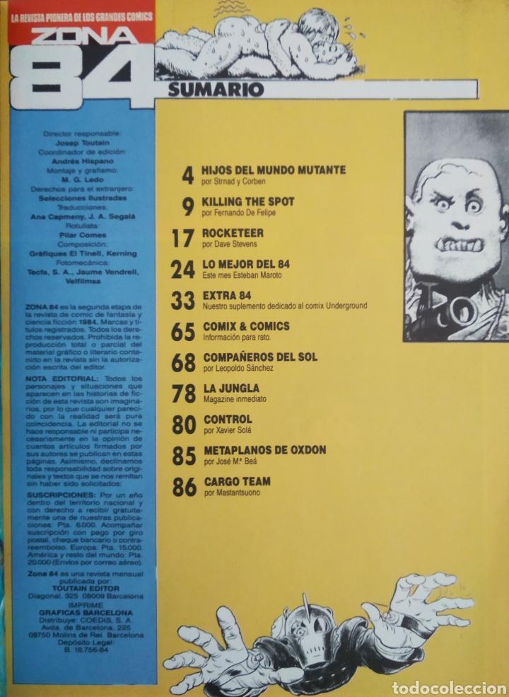 Cómics: Revista Zona 84 n°89 (Toutain, 1984). Con Extra Los Más Aberrantes Cómics Underground. - Foto 2 - 216596153
