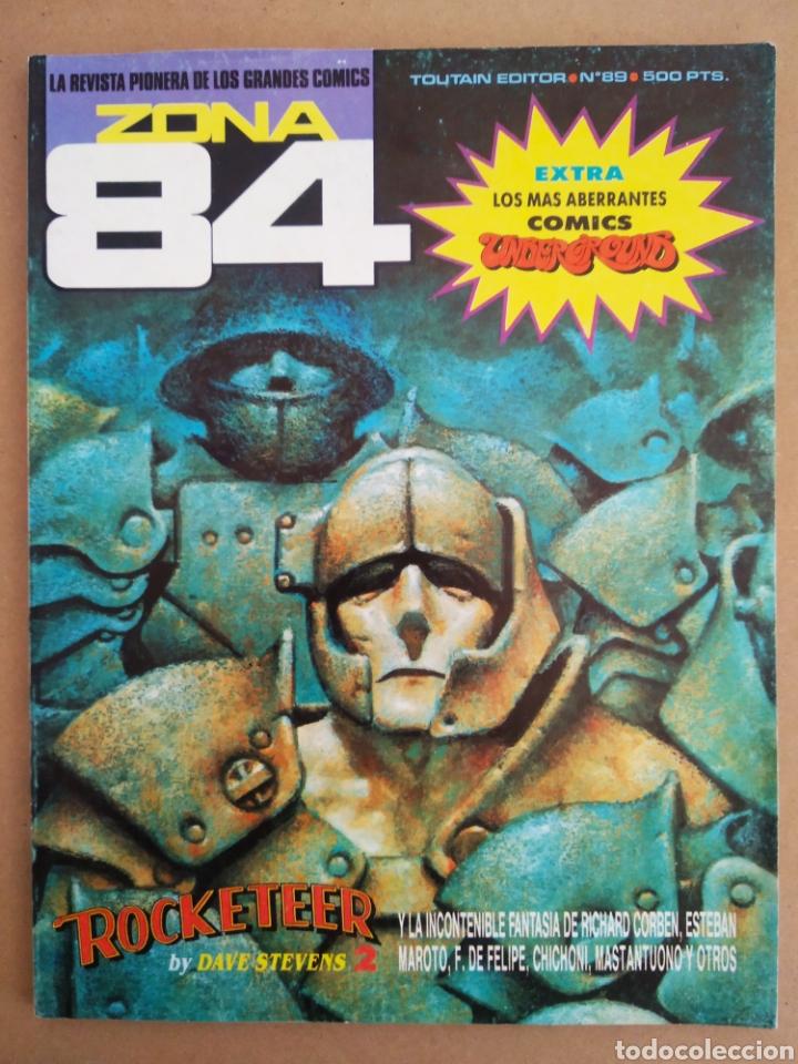 REVISTA ZONA 84 N°89 (TOUTAIN, 1984). CON EXTRA 'LOS MÁS ABERRANTES CÓMICS UNDERGROUND'. (Tebeos y Comics - Toutain - Zona 84)
