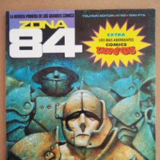 Cómics: REVISTA ZONA 84 N°89 (TOUTAIN, 1984). CON EXTRA 'LOS MÁS ABERRANTES CÓMICS UNDERGROUND'.. Lote 216596153