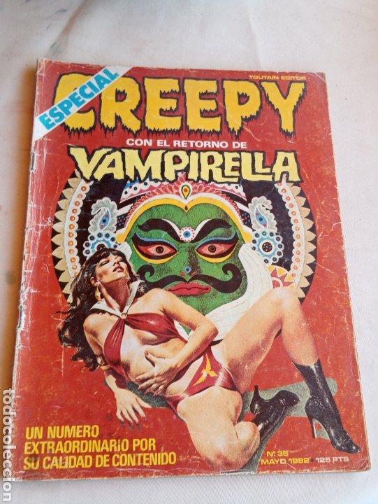 **ESPECIAL, CREEPY CON EL RETORNO DE VAMPIRELLA (N°35 AÑOS 80)** (Tebeos y Comics - Toutain - Creepy)