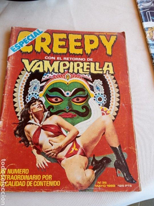 **ESPECIAL CREEPY CON EL RETORNO DE VAMPIRELLA. NÚMERO 35** (Tebeos y Comics - Toutain - Creepy)