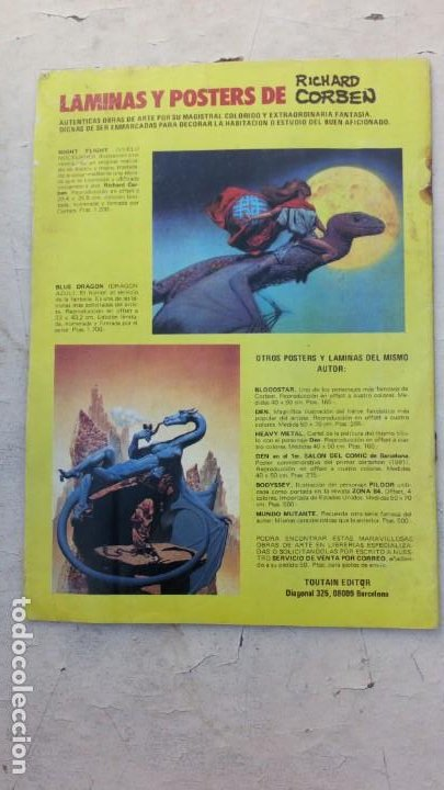 Cómics: RIP TIEMPO ATRAS Nº 5 De 5- Richard Corben / Bruce Jones - TOUTAIN 1987 - Foto 2 - 217372132